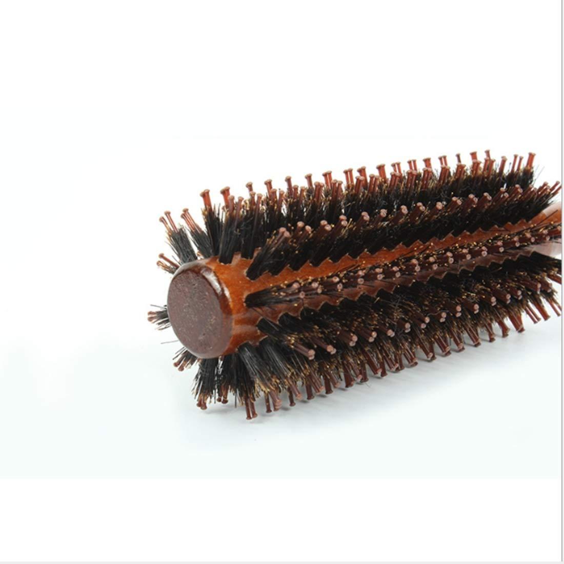 Amabubblezing Pettine per capelli dritto e in twill per le donne Round Barrel Hair Brush-22inch Lunghezza soffiando pettine dritto capelli, forma di testa di pera Cruly Comb Perfect Volume & Shine Hai