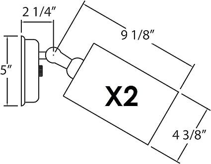 White 11722 NICOR Lighting 75-Watt Double Bullet Adjustable Flood Light