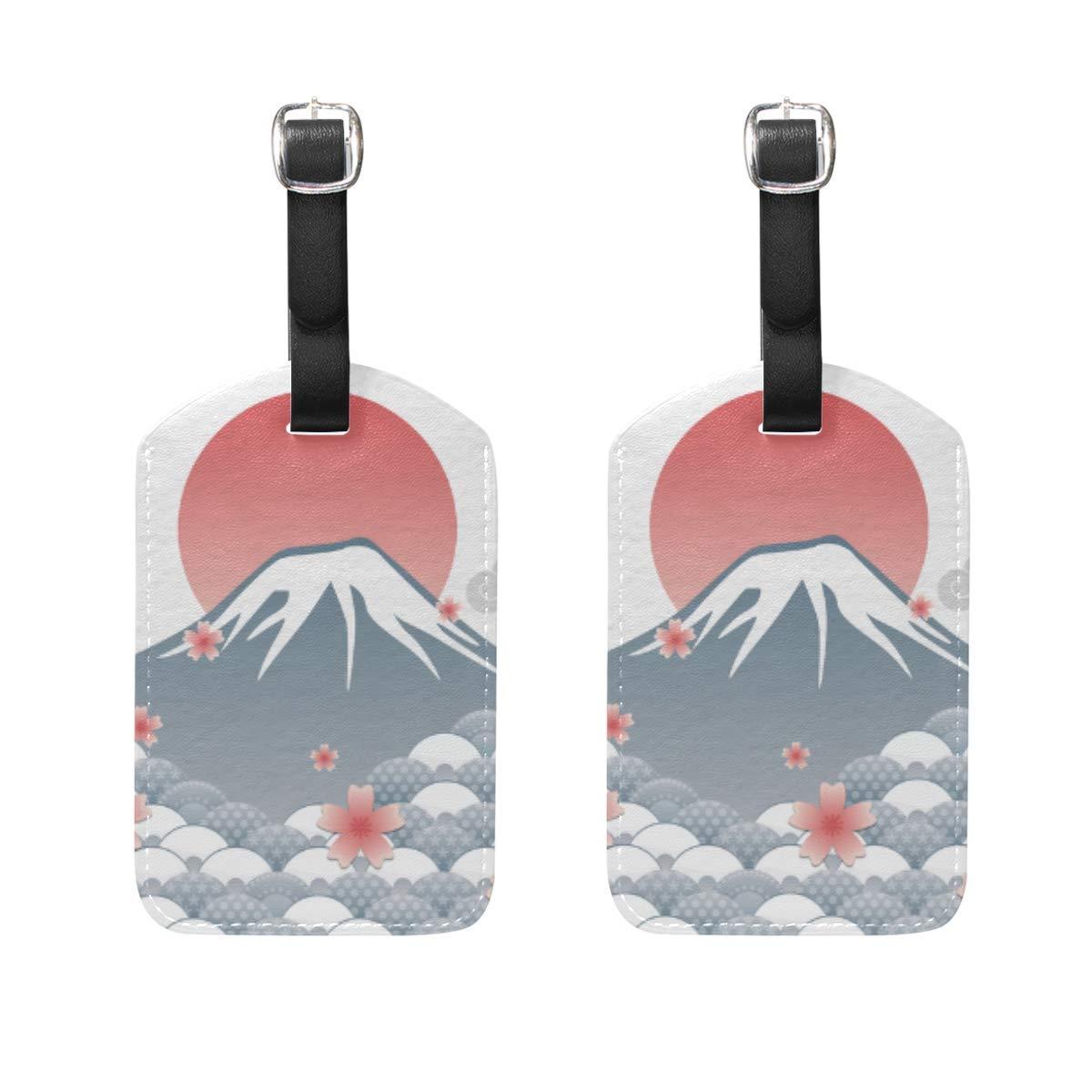 Koperororo Modern Minimalist Style Q Version Cartoon Animal Bird Travel Labels Luggage Tag Funny Pattern Name Card Holder for Baggage Set Of 2