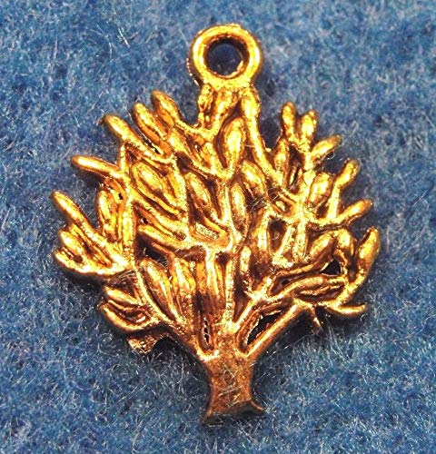 10Pcs. Tibetan Antique Gold Tree of Love Pendants Charms Earring Drops L80 Crafting Key Chain Bracelet Necklace Jewelry Accessories Pendants