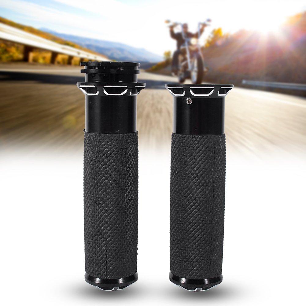 Poign/ées /à main 1 Noir confortable Poign/ées de moto CNC Guidon de moto 25mm Pour Harley Sportster Touring Dyna Softail