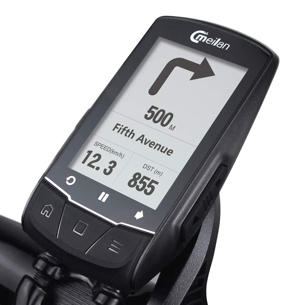 Meilan GPS Navigation Bike Computer M1 Cycling Computer Bluetooth Connect with Cadence//HR Monitor