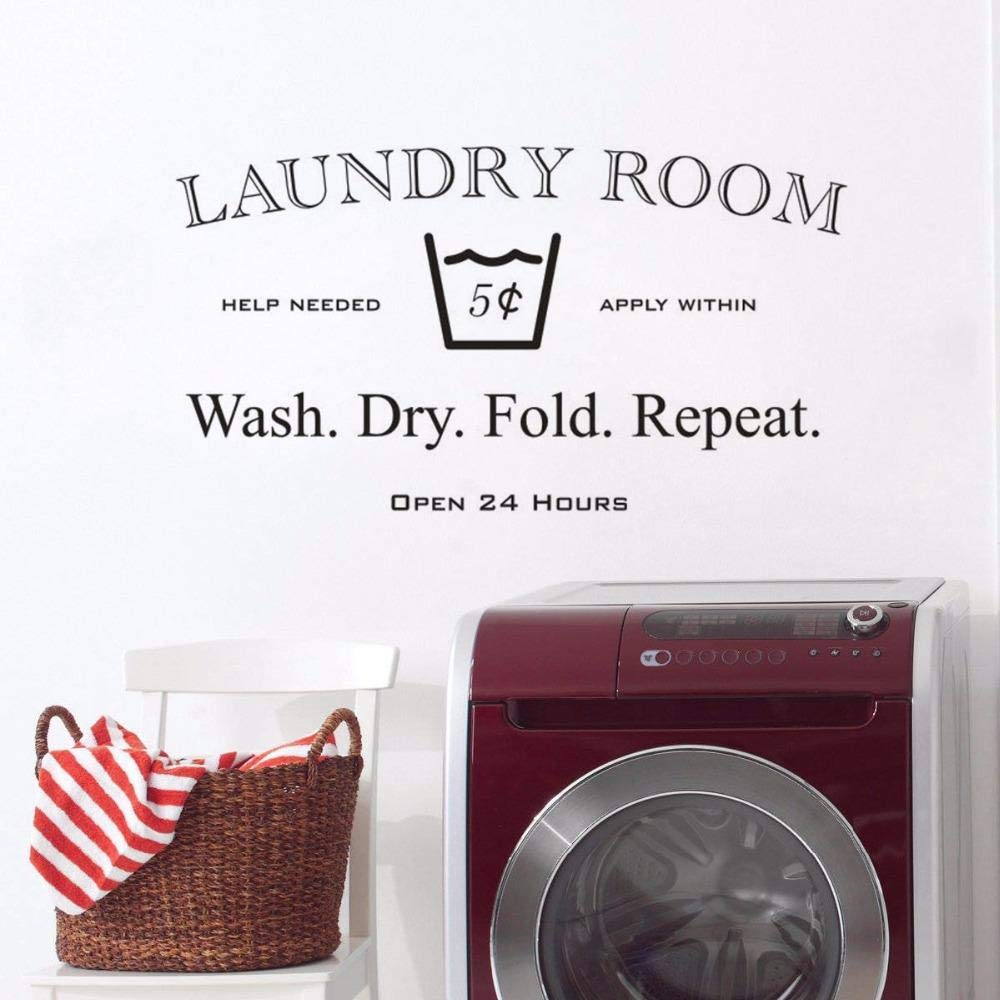 cooldeerydm 24 horas abierto cartel de lavandería etiqueta ...