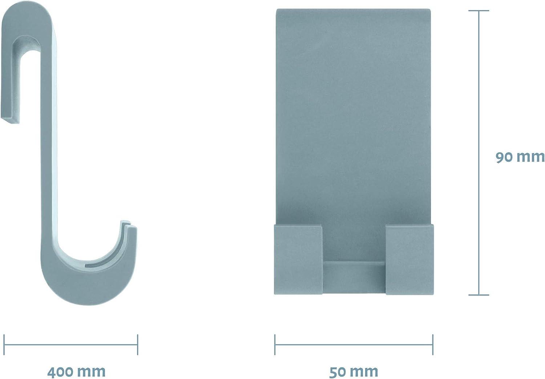Libaro Duschabzieher Silikon grau mit Halterung Haken f/ür Glasduschwand Fensterabzieher f/ür Bad Dusche Fliesen Fenster