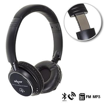Silica DMD174 - Cascos Bluetooth con FM Radio, manoslibres hi-fi, Color Negro