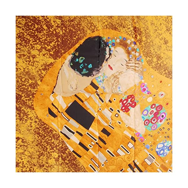prettystern XXL Crepe Seta (spessore 16 Mm) Panno di Seta Bordi Arrotolati Mano Nouveau Gustav Klimt