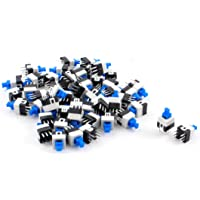 uxcell 50Pcs 6 Pin Square 7mmx7mm Momentary DPDT Mini Push Button Switch