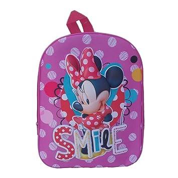 Mochila escolar, de guardería, 3D, Minnie, Disney, plantilla de relieve, cartera-mochila de Disney: Amazon.es: Juguetes y juegos