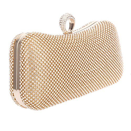 Pochette Bonjanvye Ragazze Gold Borse Per All' Ingrosso Gandbags Knuckle RRq5TrP