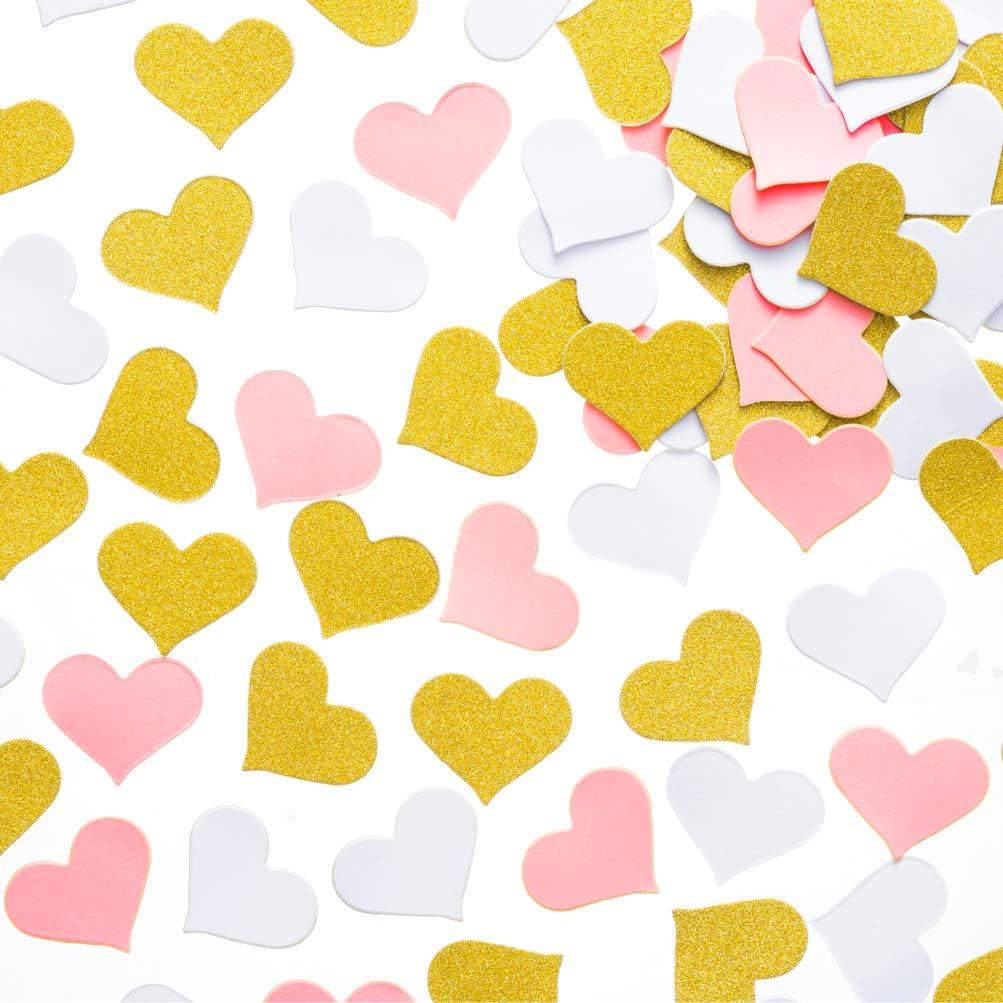 Heart Confetti Wedding Confetti Bridal Shower Confetti Tiny Heart Confetti Paper Hearts Gold Glitter Confetti Invitation Confetti
