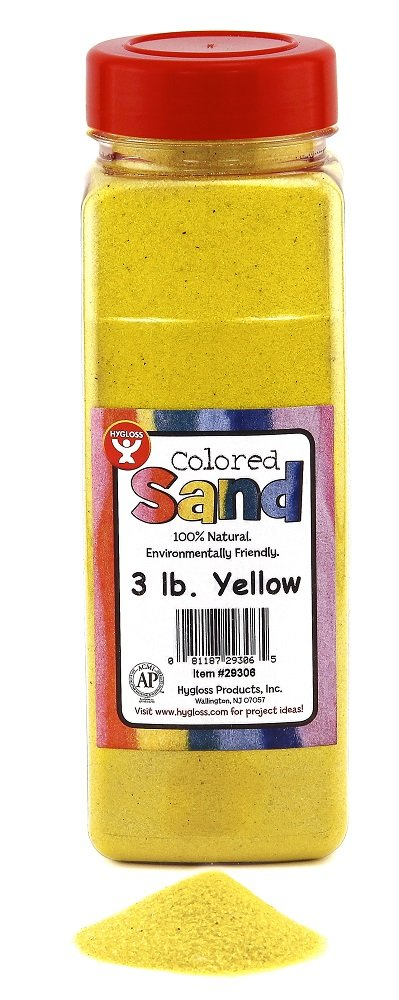 Black ConstructivePlaythings 29301 Hygloss Products Colored Play Sand Assorted Colorful Craft Art Bucket O Sand 3 lb