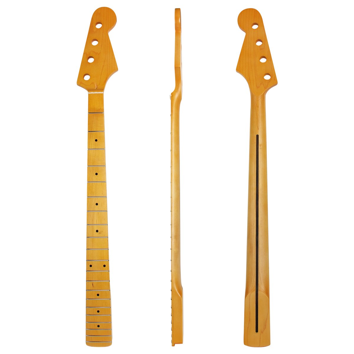 Electric Bass Neck For Similar Replacement Maple 21 Mr2 Fuse Box Fret Rosewood Back Inlay Bolt On Yellow Vintage Tint Satin Musical Instruments