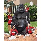 Design Toscano Giant Male Silverback Gorilla Statue, Multicolored