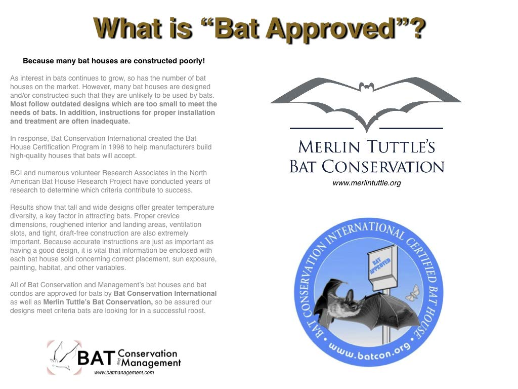 BCM Universal 4-Chamber Premium Bat House | Weatherproof | Made in USA by Bat Conservation and Management (Image #1)