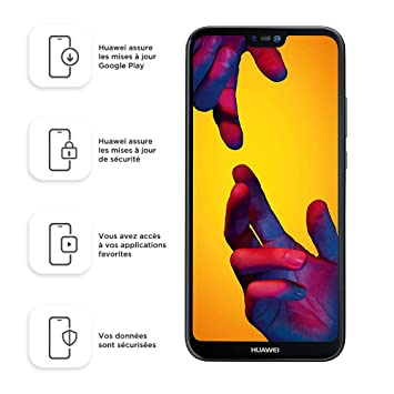 Huawei P20 Lite 64GB Dual-SIM Factory Unlocked 4G/LTE Smartphone (Midnight  Black) - West European Version