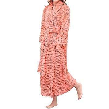 Sourcingmap® léger en flanelle manches longues Kimono Peignoir Spa  Peignoirs avec ceinture pour femme S c59d73b114e