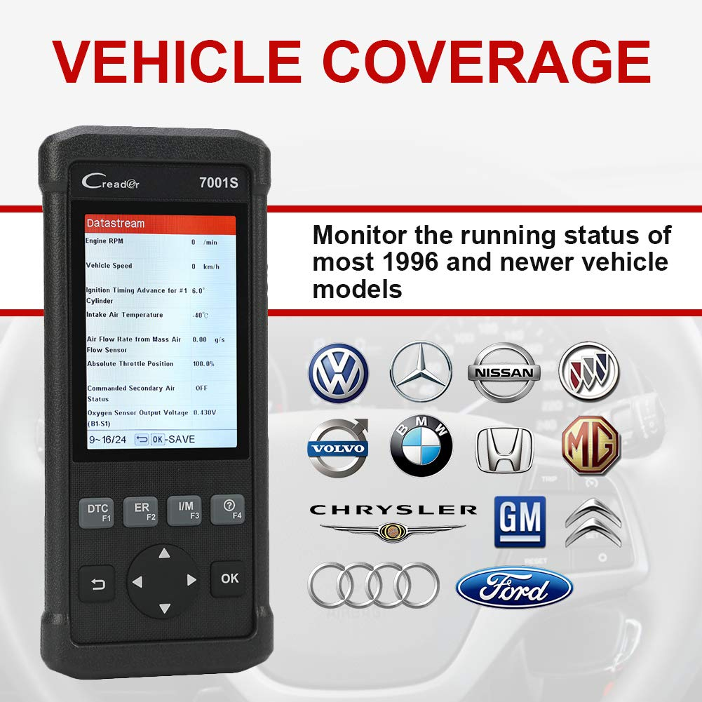 Launch OBD2 Scanner,Code Reader 7001S OBD II Scan Tool ABS SRS Diagnostic Scanner Tools with Oil Rest EPB Service,ABS Reset Service Functions. by LAUNCH (Image #7)