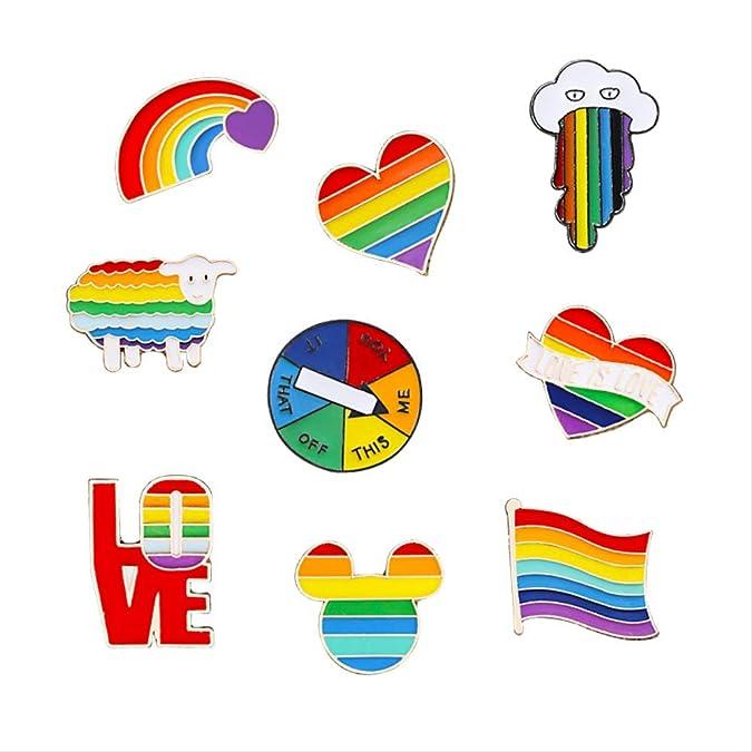 PDTZ Rainbow Pins Juego Creativo de Dedo Tocadiscos Broche de ...
