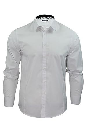 Mens Brave Soul Charlie Designer Shirt Long Sleeved Button Up ... d3d0b33fe