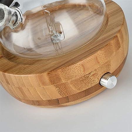 HNXCJS Humidificador Bambú De Vidrio Esencial Aceite Nebulizador Aromaterapia Difusor Humidificador 100-240 V Bajo Ruido Control De Humidificadores De Control De ...