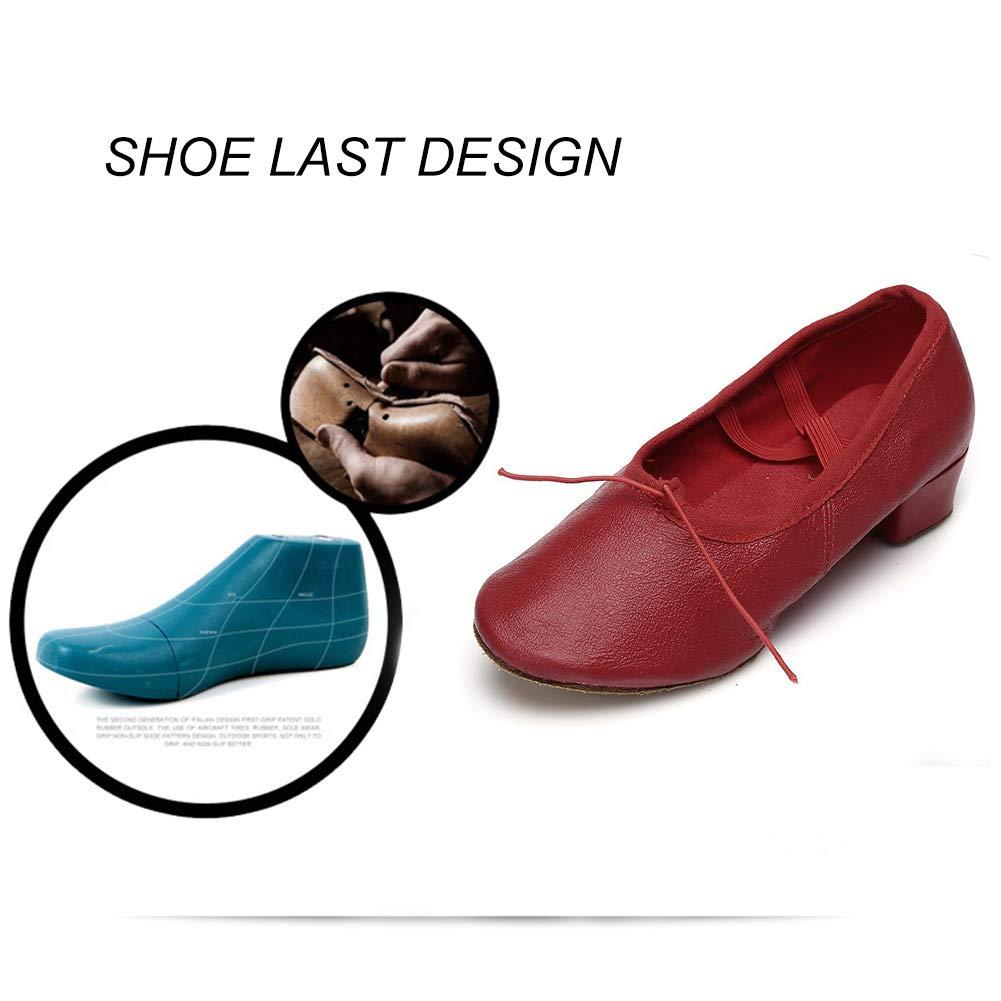 HIPPOSEUS Womens Latin Dance Shoes Ballroom Dance Practice Performance Shoes Model U101,Model U101