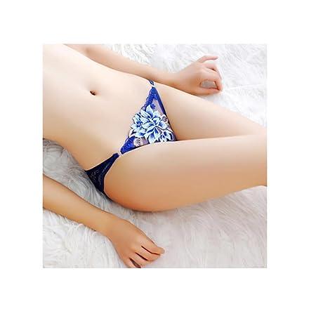 triángulo pantalones cortos de la ropa interior de talle bajo de encaje bordado de seda fina de algodón transpirable entrepierna transparente de la mujer 8 ...