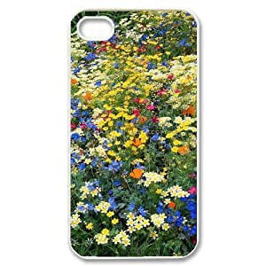 Beautiful Wildflowers Customized Cover Case with Hard Shell Protection for Iphone 4,4S Case lxa#423868