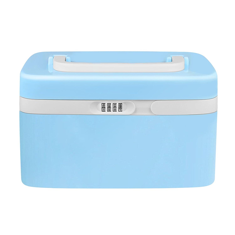Amazon.com: Eoere Combination Lock Medicine Cabinet With Separate  Compartments,Locking Prescription Pill Case,Child Proof Storage Box, Size  11 X 7.4 X 6.2 ...