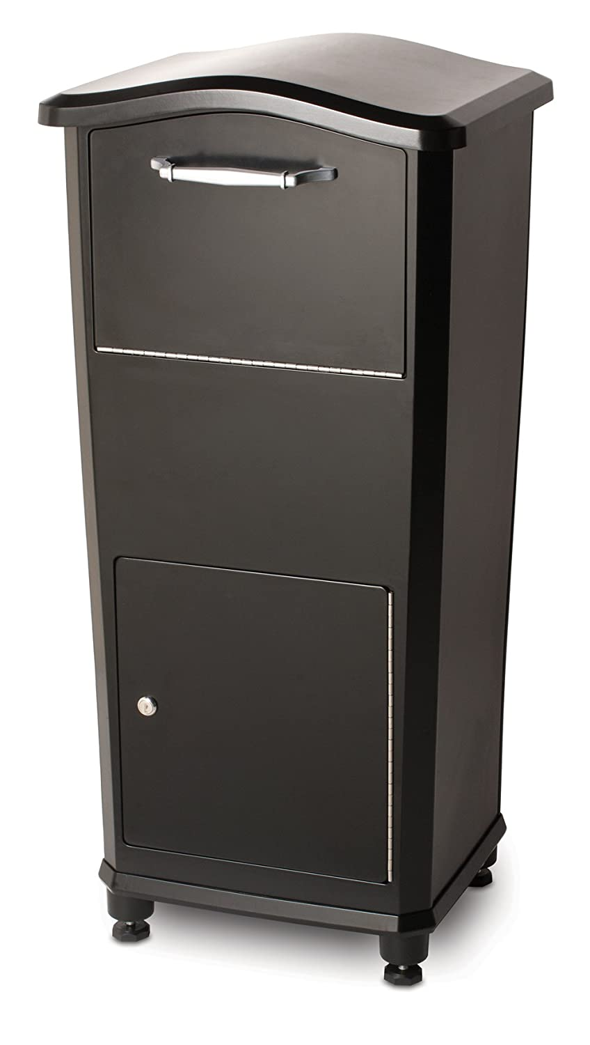 elephantrunk Parcel Drop Box Black Architectural Mailboxes 6900B