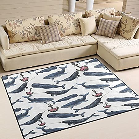 61k0XYTAVPL._SS450_ Whale Rugs and Whale Area Rugs