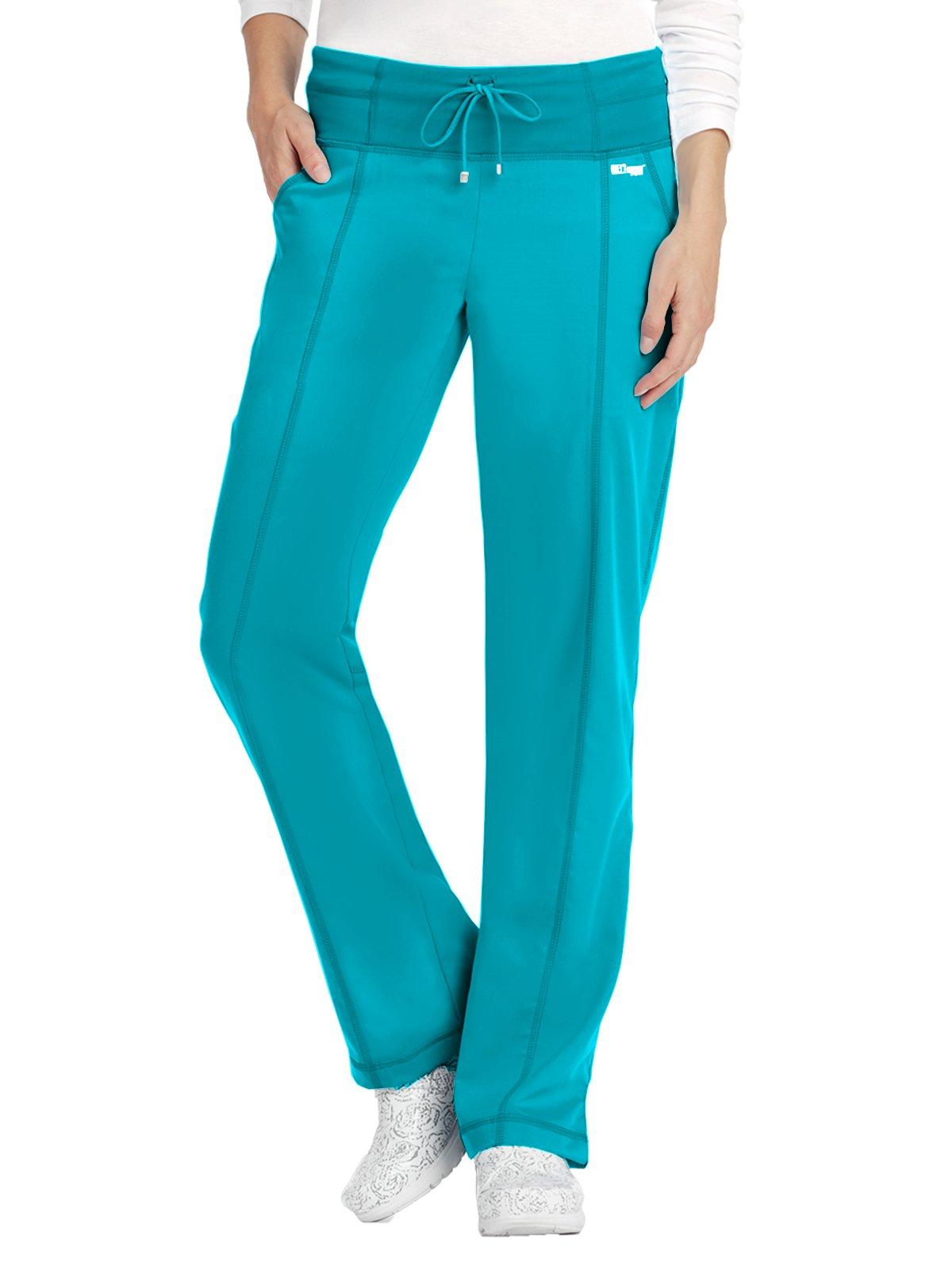 Grey's Anatomy Active 4276 Yoga Pant Teal S Petite