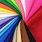 24pcs Thick 1.4mm Soft Felt Fabric Sheet Assorted