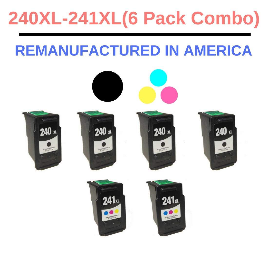 直営店に限定 キヤノン PG240XL CL241XL(PG-240XL CL-241XL) 用最良のインク再製造 ブラックとカラーインクカートリッジ 6パック (4ブラック (4ブラック MG3222 PG240XL + 2色) コンボ キヤノン Pixma MG3220 MG3222 MG3520 MX432 MX439 MX452 MX459 B07HVMJWTC, おがにっくしぜんかん:3d25580d --- diceanalytics.pk