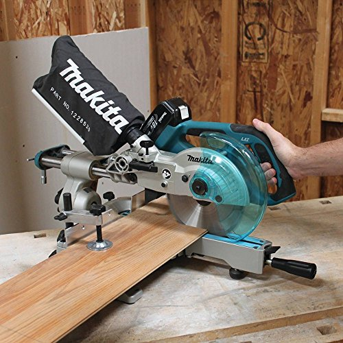 Makita XSL01 LXT Lithium Ion Cordless Dual Slide Compound Miter Saw Kit, 7-1/2-Inch