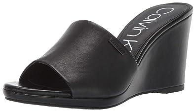 1a31a2ffd6 Amazon.com   Calvin Klein Women's Britta Wedge Sandal   Platforms ...