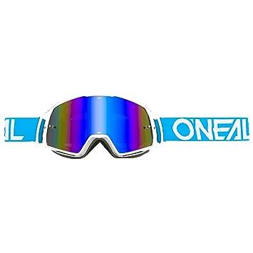 O'Neal B-10 Goggle Twoface Crossbrille Verspiegelt Silber Motocross DH Downhill MX Anti-Fog Glas, 6024-20, Farbe Neongelb