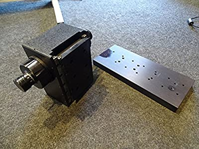 Vertical Microscope Positioner ALM Linear Slide Stage w/ 4X10 Mounting Plate