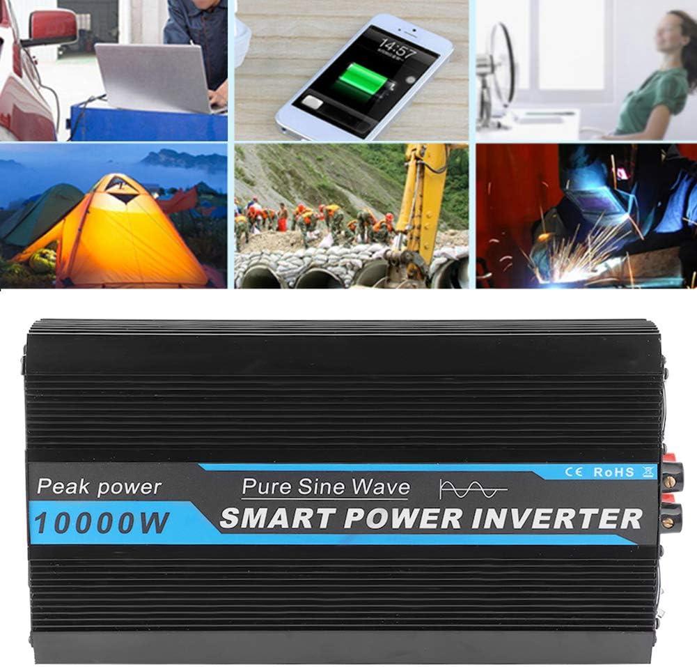 Akozon Inversor de voltaje del coche 10000W Transformador convertidor de potencia Onda sinusoidal pura 12V a 220V-240V
