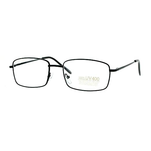 e8a839afc7b Black Small Frame Eyeglasses Thin Metal Rectangular Fashion Glasses Spring  Hinge