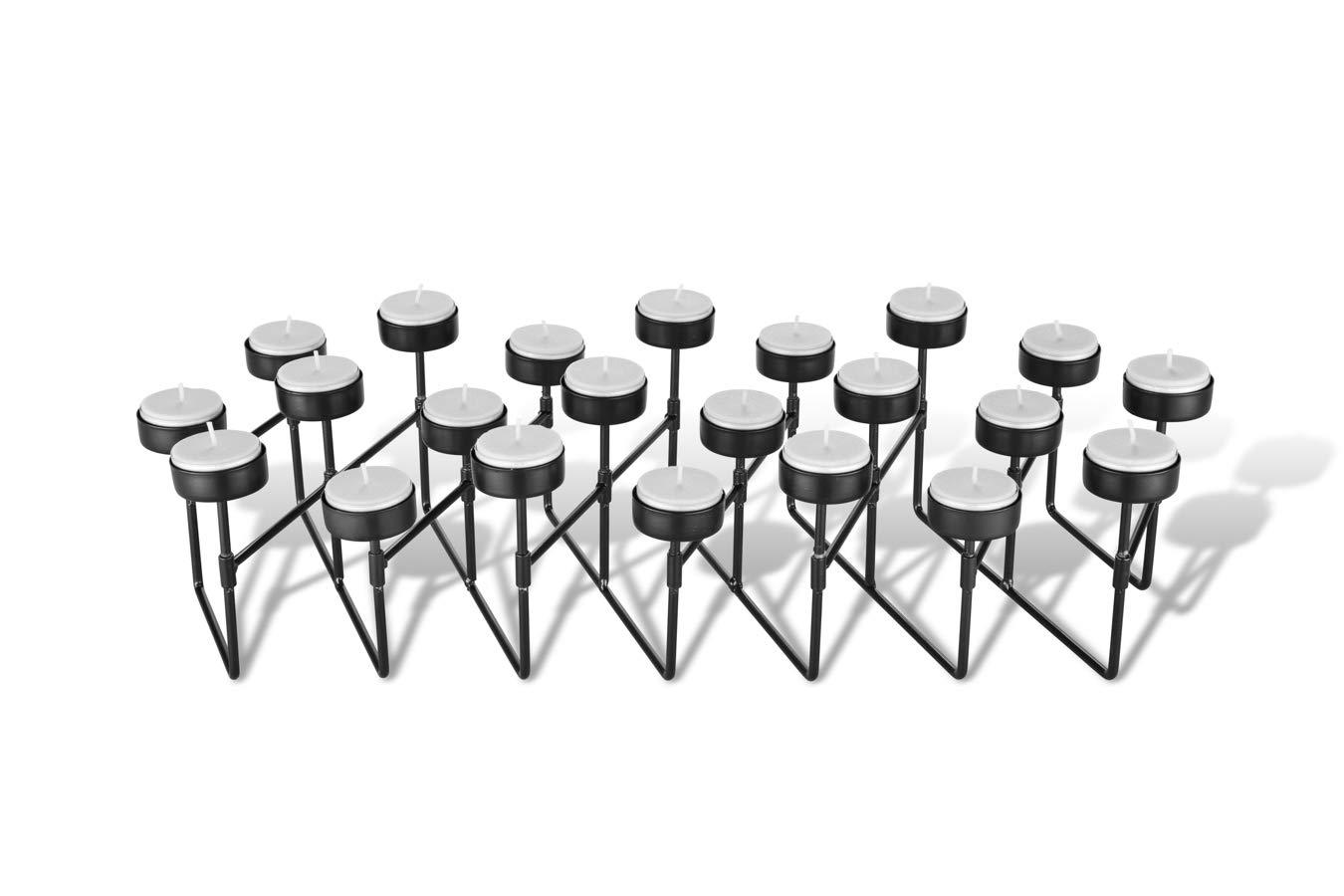 Chambre Bougeoir pour 22 ou 10 Bougies Porte Bougie Chauffe Plat pour Salon Chandelier Noir Bougeoir Noir M/étal LIFA LIVING Bougeoir Decoration Table Cuisine