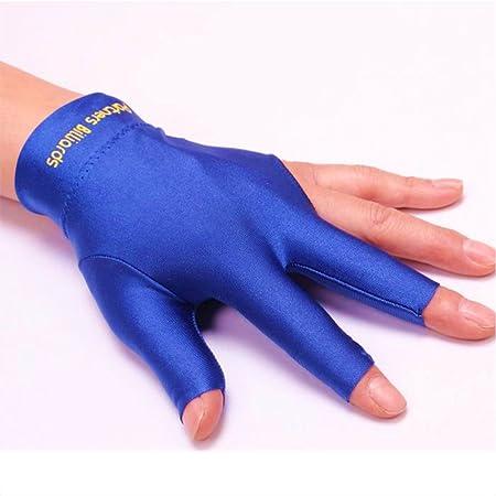 GETIT72 Guante de billar para piscina de mano izquierda abierta tres dedos guantes de fitness accesorios, guantes de billar de dedos Snooker cue guantes, color azul, tamaño Tamaño libre: Amazon.es: Hogar