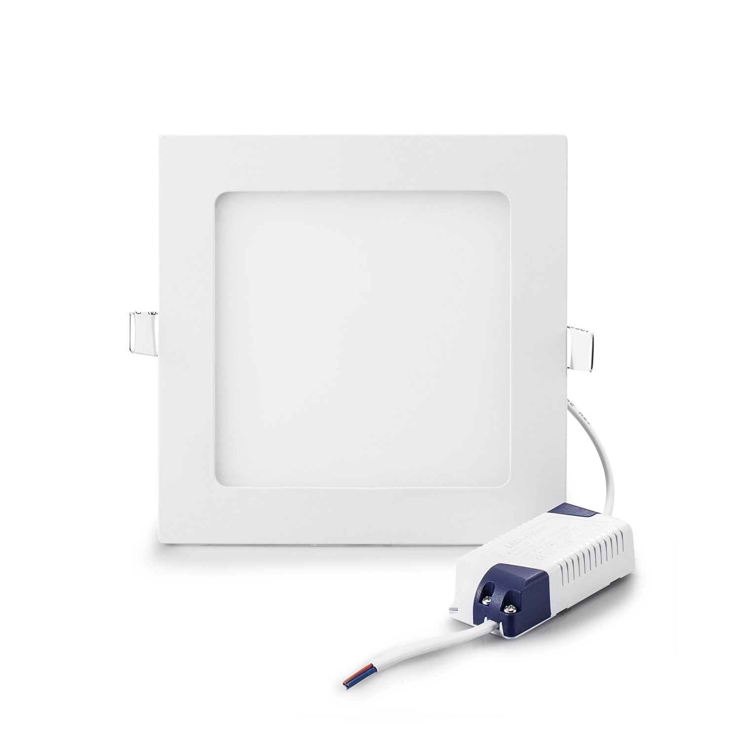 Gianor 18W Led Squre Recessed Lighting 8'' Ultra Thin Led Ceiling Lights no-Dimmable Panel Light Day White Fixture 6000K