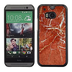 MOBMART Carcasa Funda Case Cover Armor Shell PARA HTC One M8 - The Cracked Brown Floor Pattern