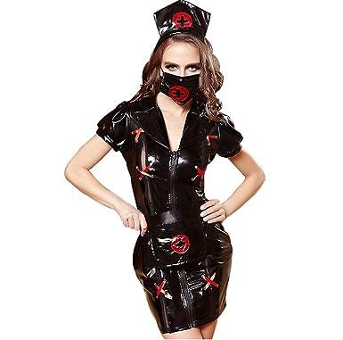 c94ffdd9055c9 Nurse Costume Women - Cardiac Arrest Adult Women Sexy Black Nurse Costume