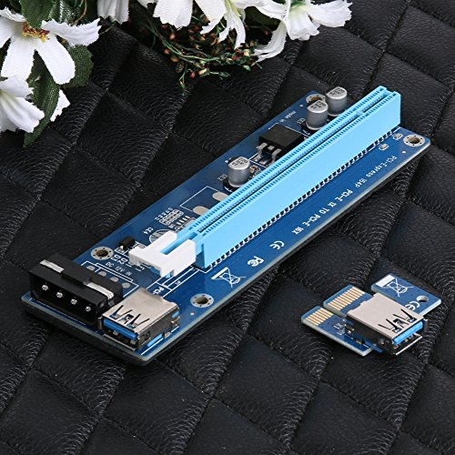 Mining SATA Cable, Awakingdemi PCI-E 1X to 16X Extender Riser Card 4Pin USB3.0 Cable for Mining,20pcs by Awakingdemi (Image #6)