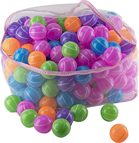 Play22 Ball Pit 200 Pack - Stripe Shape Blue, Red, Purple, Green, Orange and Yellow by Play22 (Image #4)