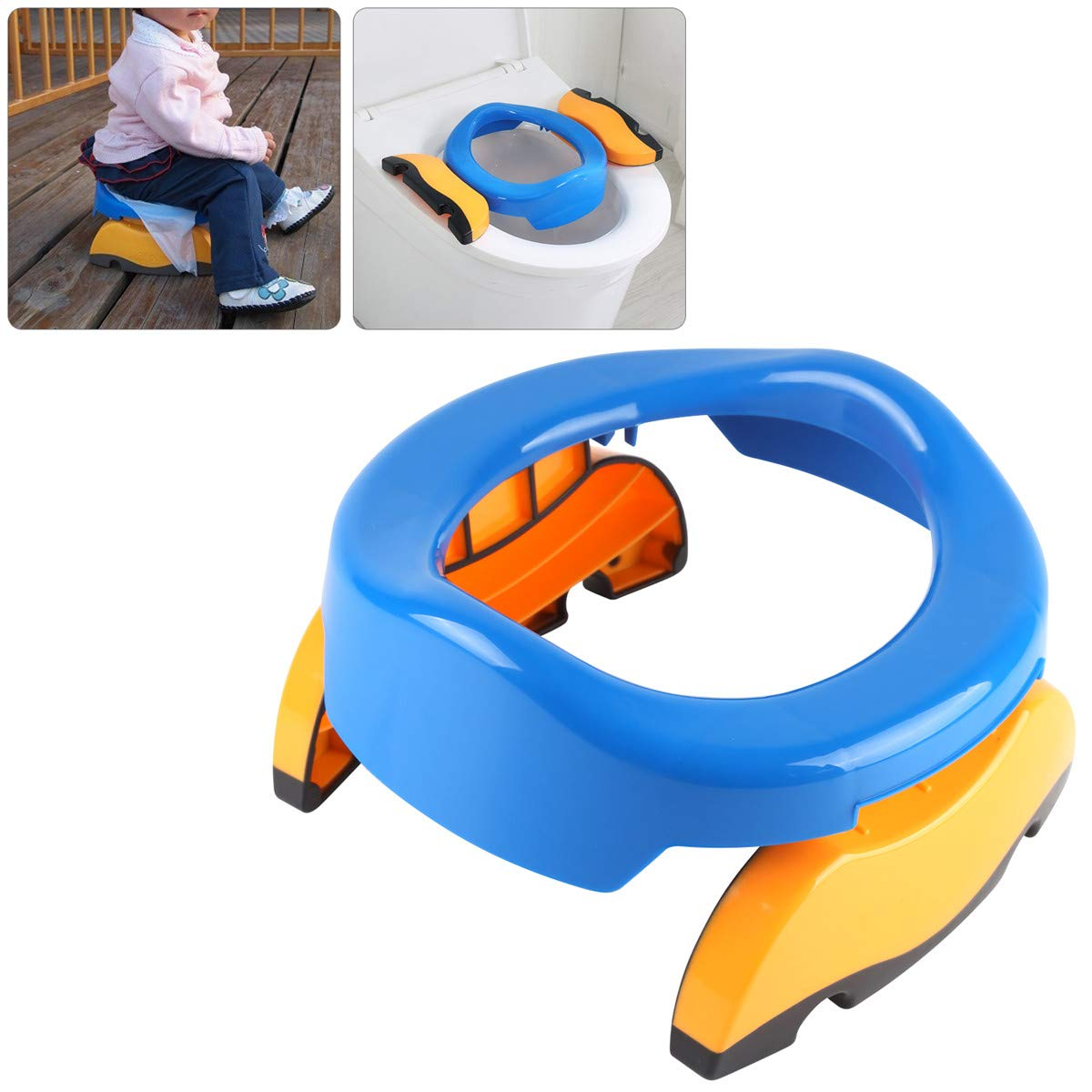 MultiWare Baby Travel Potty Chair 2 in 1 Toilet Training Seat Portable Foldable Multifunctional Eco-Friend Stool