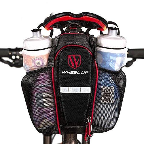 GuDoQi Fahrradtasche Satteltasche Mit 2 Taschen Wasserdicht Auf Fahrrad Reitstock