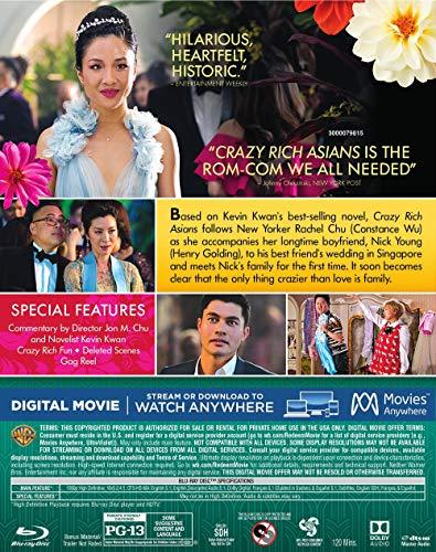 Crazy Rich Asians (Blu-ray + DVD + Digital Combo Pack) (BD)