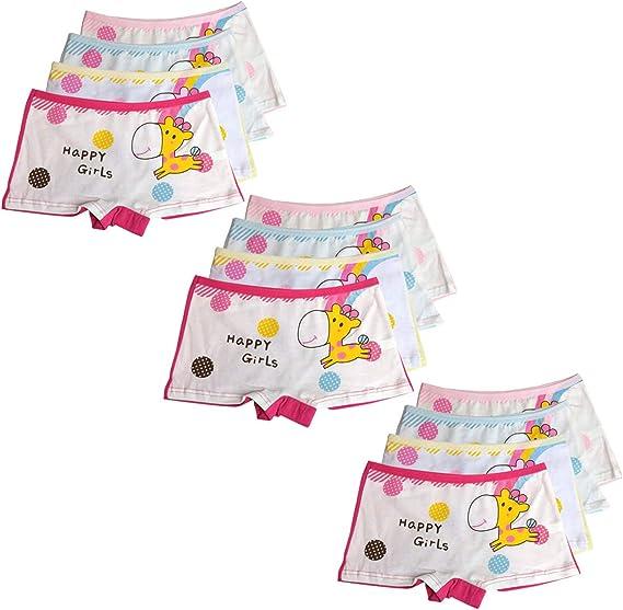 Usex Sense Pacco da 12 Bambine e Ragazze Mutande Intimo Taglia 2-12 Anni
